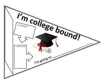 350x270 College Bound Pennant By Hoottastic Learning Teachers Pay Teachers