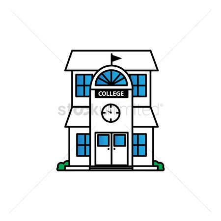 450x450 Free College Building Stock Vectors Stockunlimited