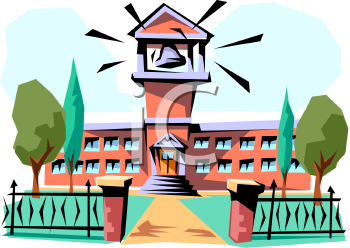 350x248 Royalty Free College Clip Art, Buildings Clipart