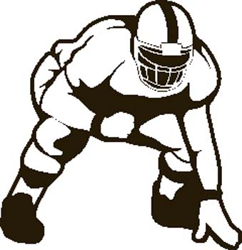 339x350 College Football Clip Art Clipart Image