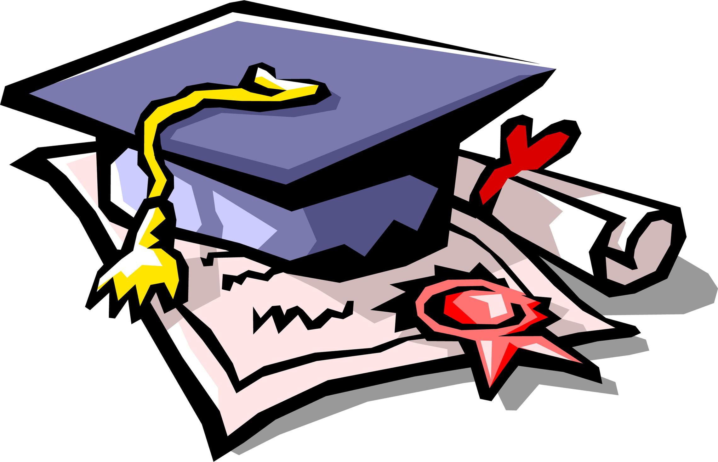 2280x1469 Graduation Symbols Clip Art Clipart