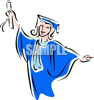 331x350 Young Female College Graduate Clip Art