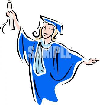 331x350 Young Female College Graduate Clip Art