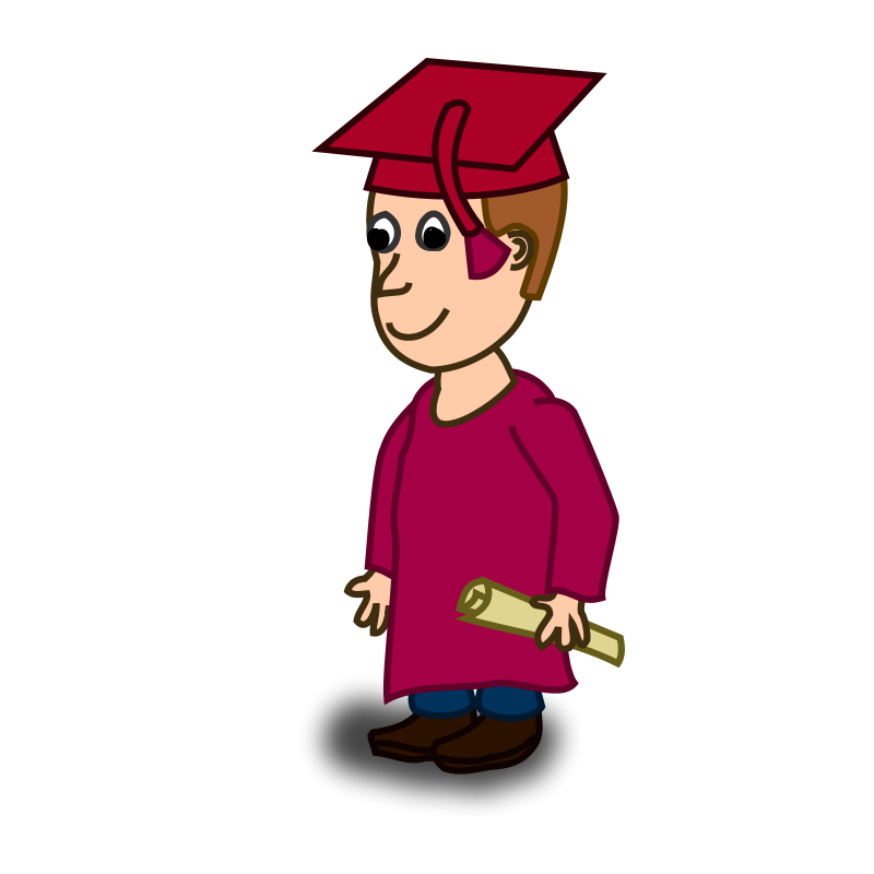 800x800 Cartoon Clipart Graduation