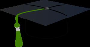 300x156 Graduation Hat With Green Tassle Clip Art