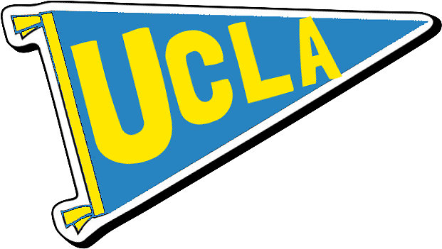 621x351 Ucla Pennant Flag Stickers By Designs By Sampc Redbubble