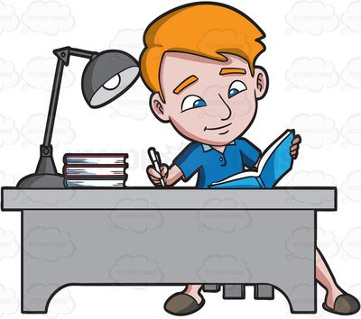 400x354 College Student Clipart