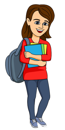 275x550 Female College Student Clipart