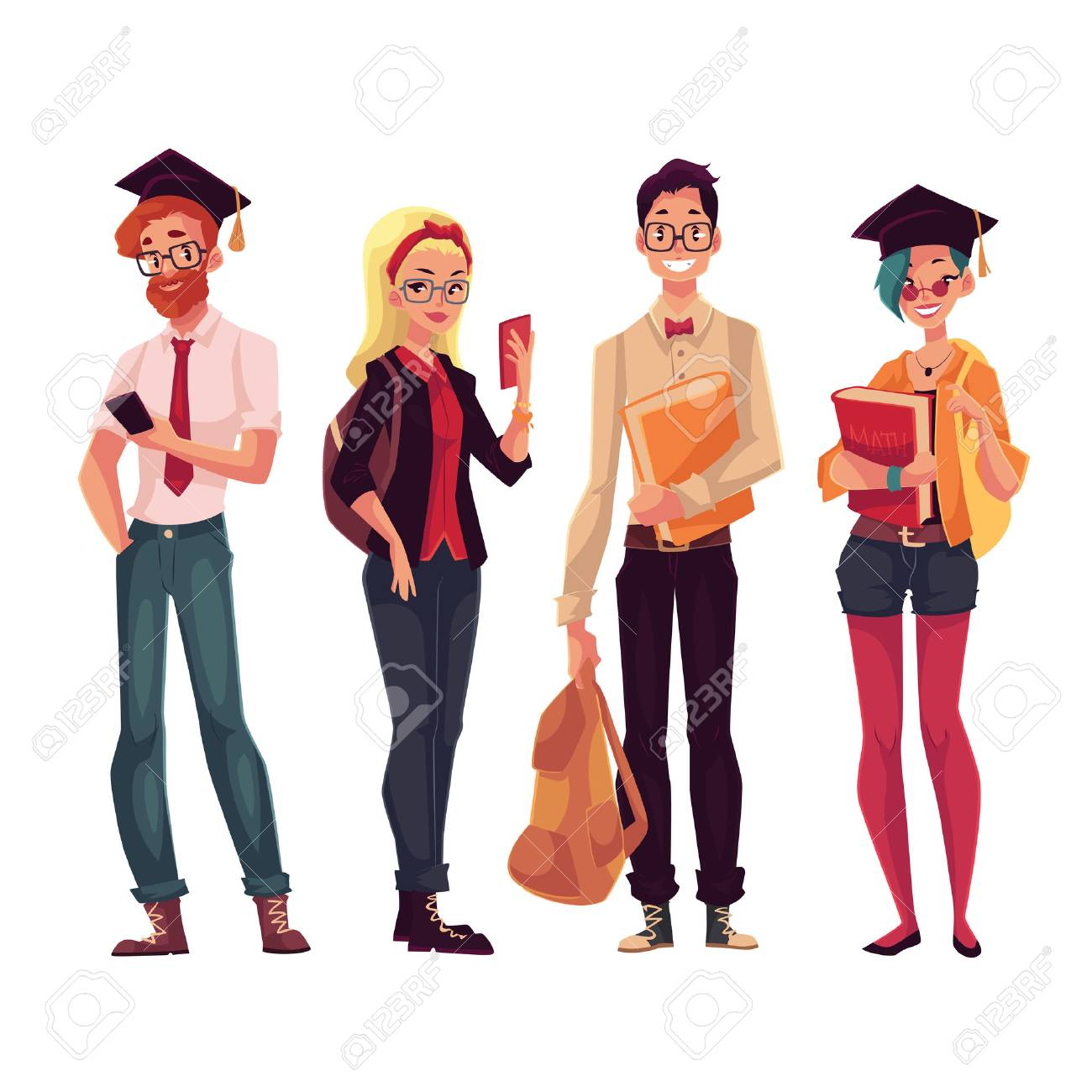 1300x1300 Group Of Full Height College, University Students With Books