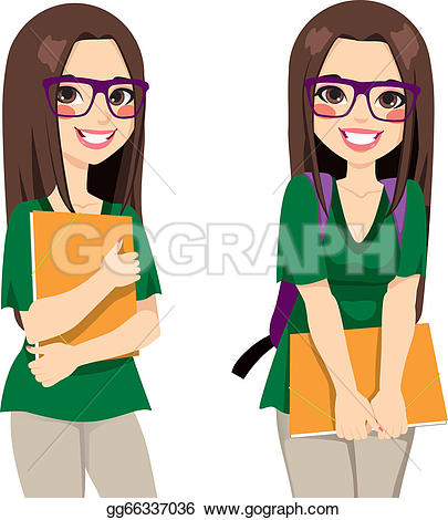 405x470 College Student Clipart