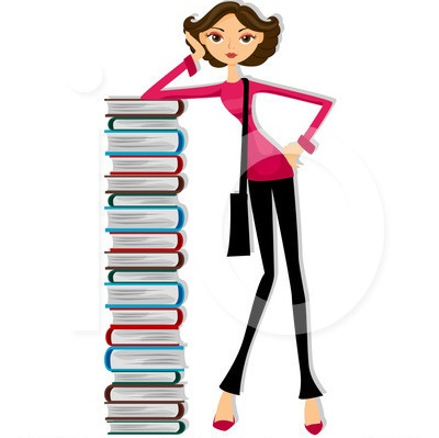 400x399 College Student Clipart