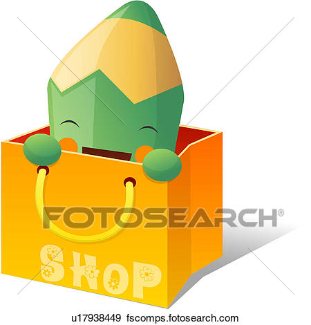 450x470 Clip Art Of Shopping Bag, Stationery, Shopping, Colored Pencil