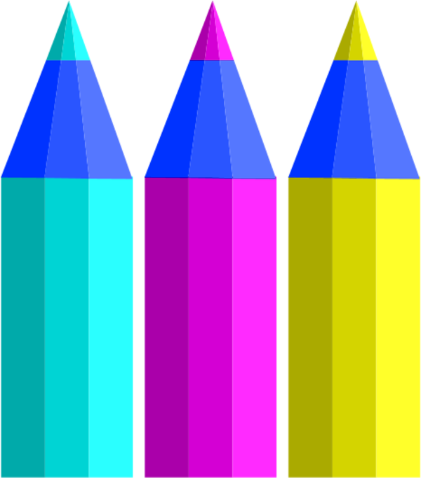 600x682 Colored Pencils Clipart