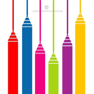 300x300 1578 Free Vector Colored Pencils Public Domain Vectors
