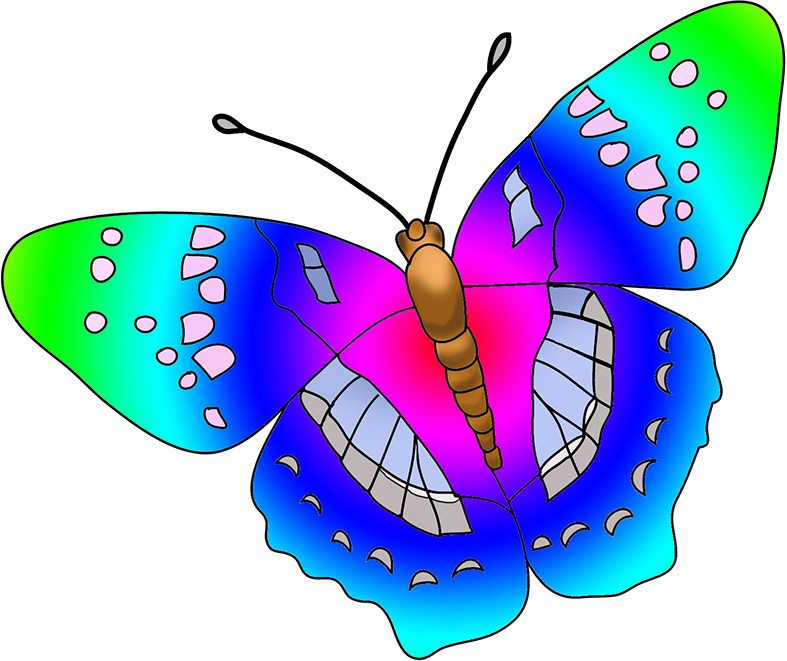 787x661 Butterflies Colorful Butterfly Clipart Clipartfest