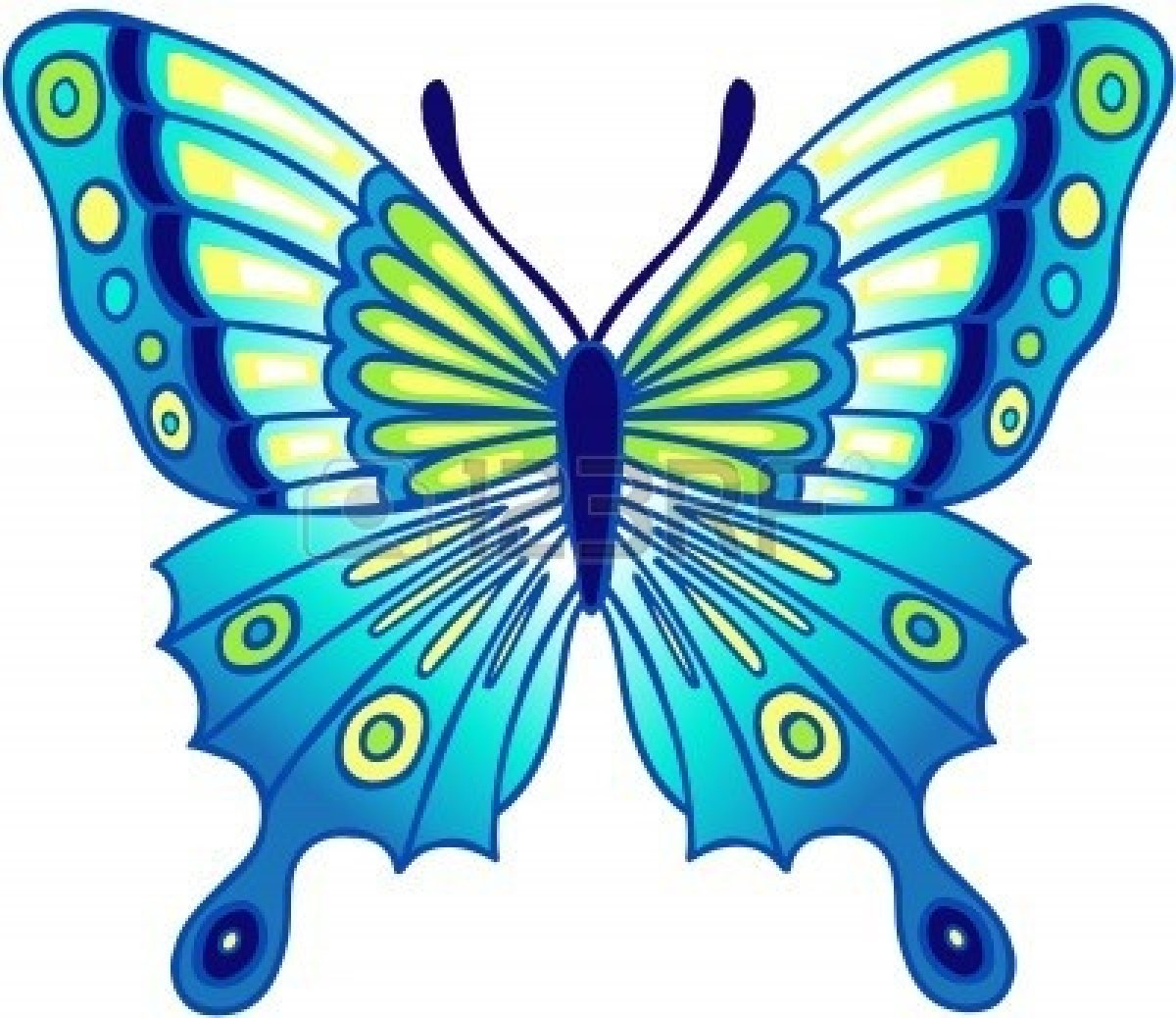 1200x1038 Butterfly Clipart Colored