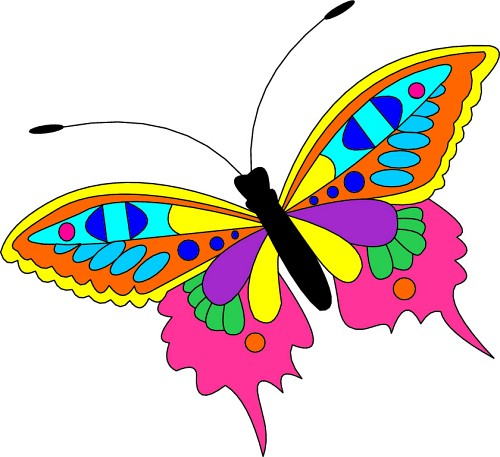 500x457 Clipart Butterflies