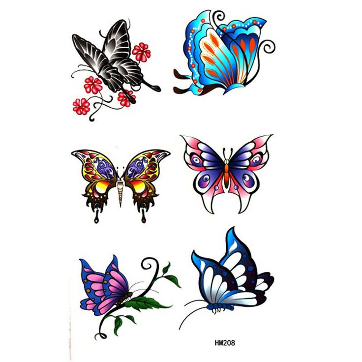 736x736 21 Best Colorful Butterfly Tattoo Designs Images