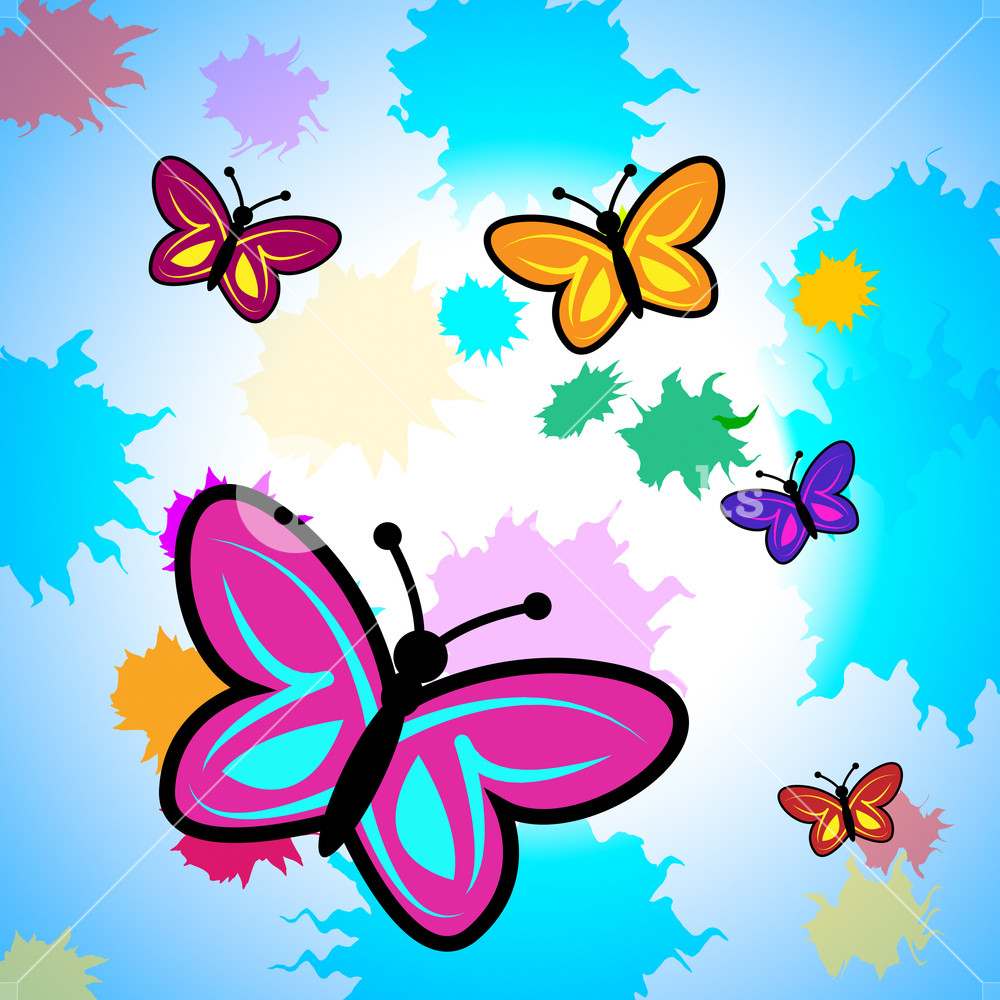 1000x1000 Colorful Butterflies Showing Vibrant Butterfly And Colors Royalty