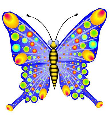 381x400 Colorful Butterflies Clipart Clipartfox 5