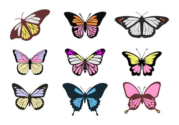 700x490 Free Colorful Butterflies Vectors