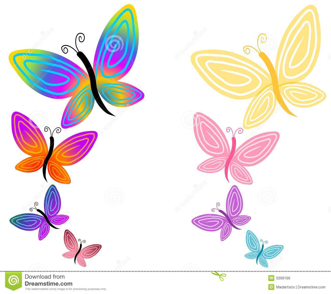 1300x1154 Colorful Clipart Colorful Butterfly