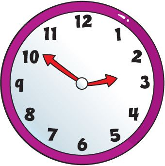 Colorful Clock Clipart