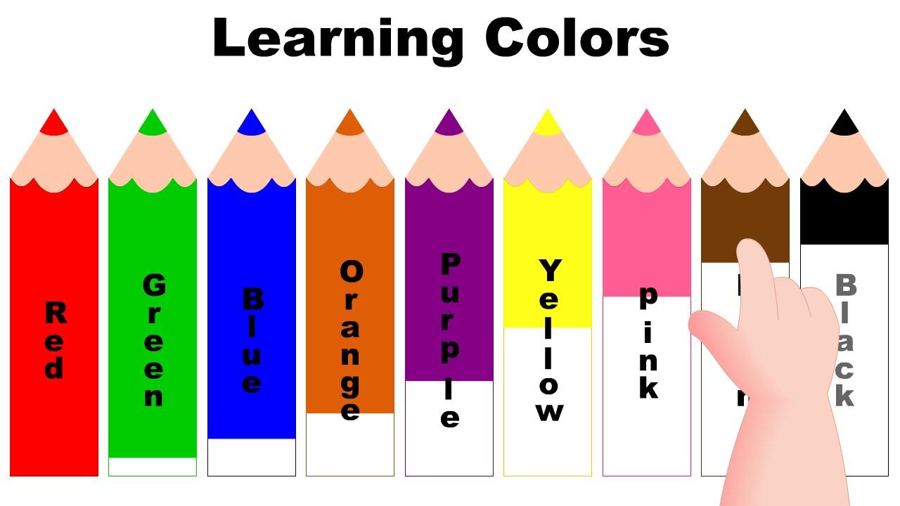 1280x720 Different Color Children Education Clipart