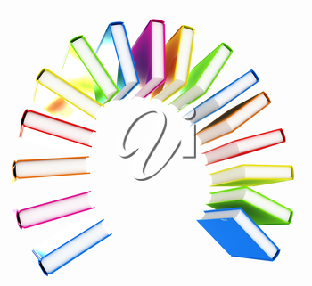 350x321 Colorful Books Like The Rainbow On A White Background Education