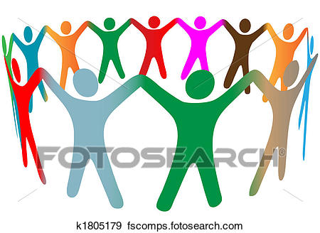 Colorful Hands Clipart
