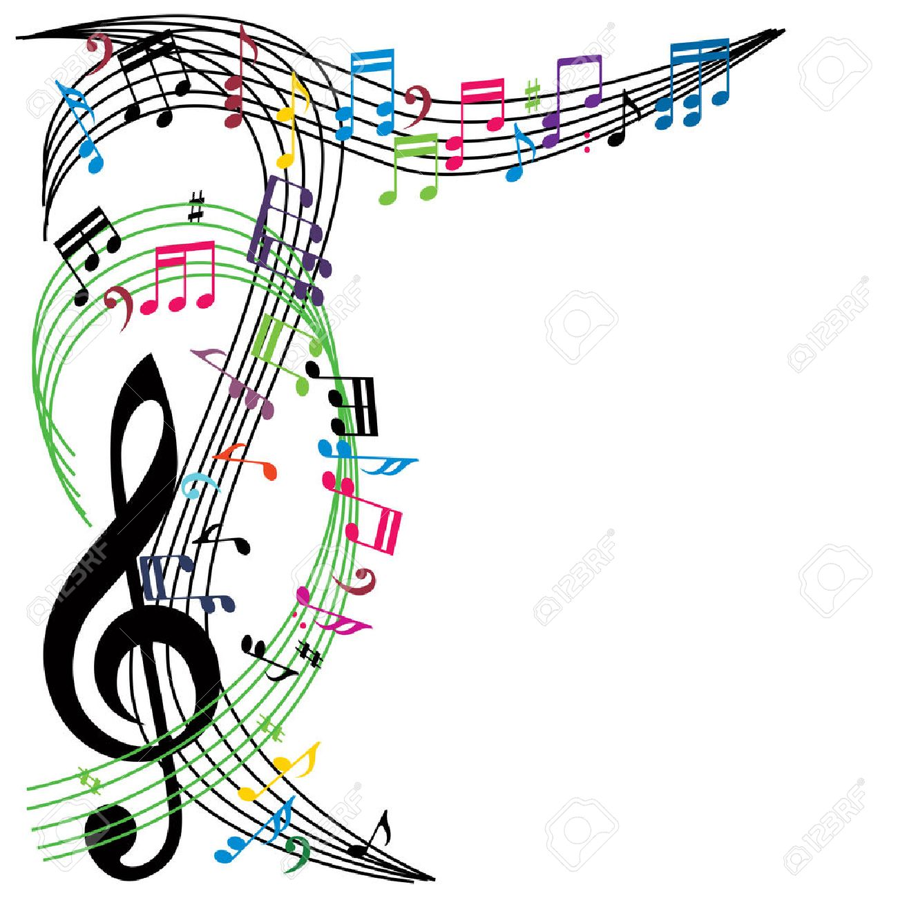 Musical Wallpaper Borders: Free Download Best Colorful