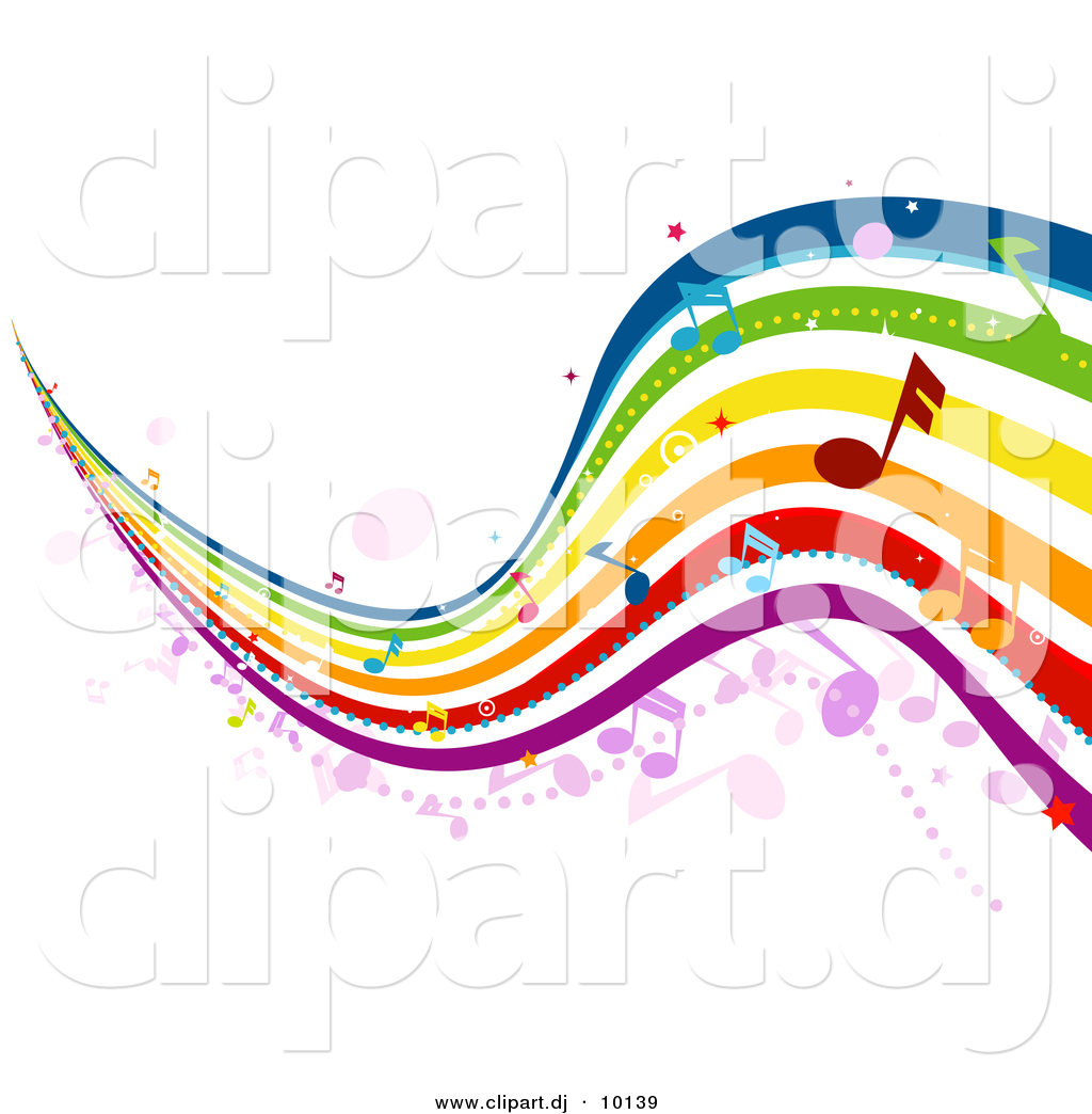 Colorful Music Notes Clipart