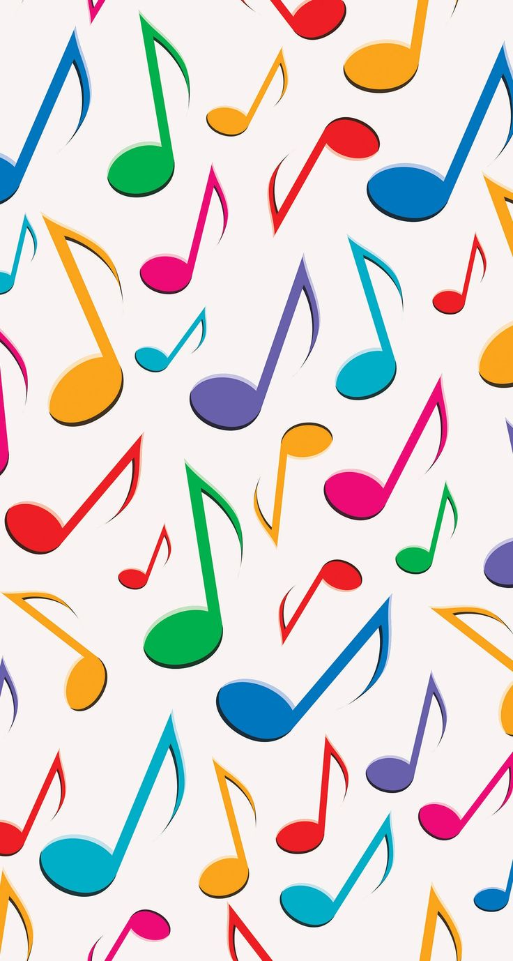 Colorful Music Notes Wallpaper Free Download On Clipartmag