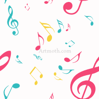 Colorful music notes wallpaper free download best colorful music 200x200 colorful musical notes wallpaper clipart panda voltagebd Images