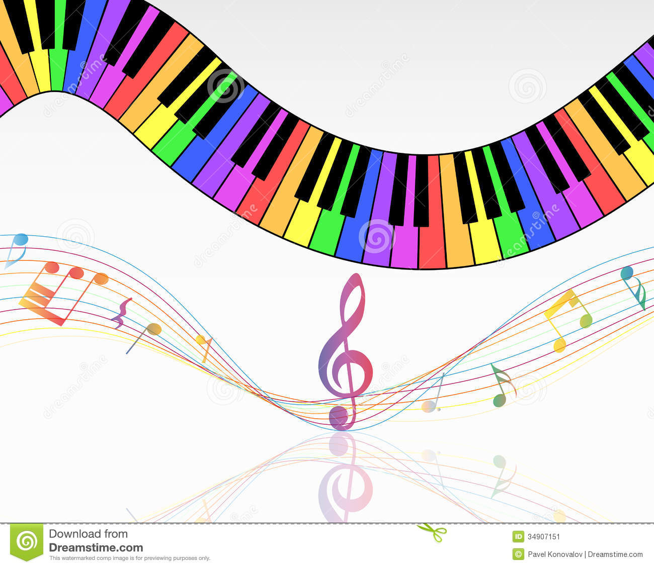 Musical Background Vector Colorful Notes Wallpaper Free Best