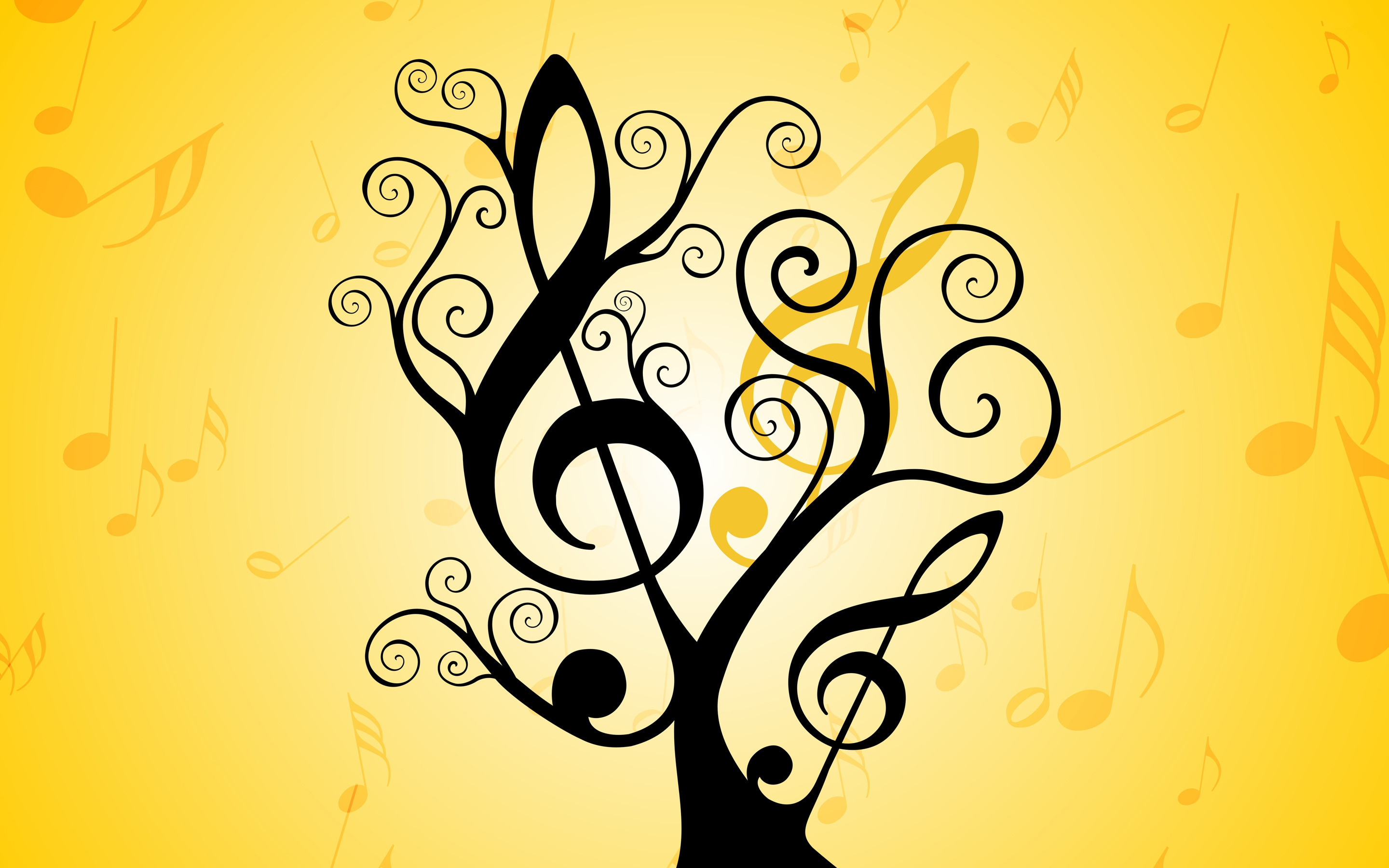 Colorful Music Notes Wallpaper | Free download best Colorful Music ...