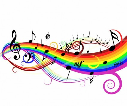 425x356 3d Colorful Music Notes Wallpaper Clipart Panda