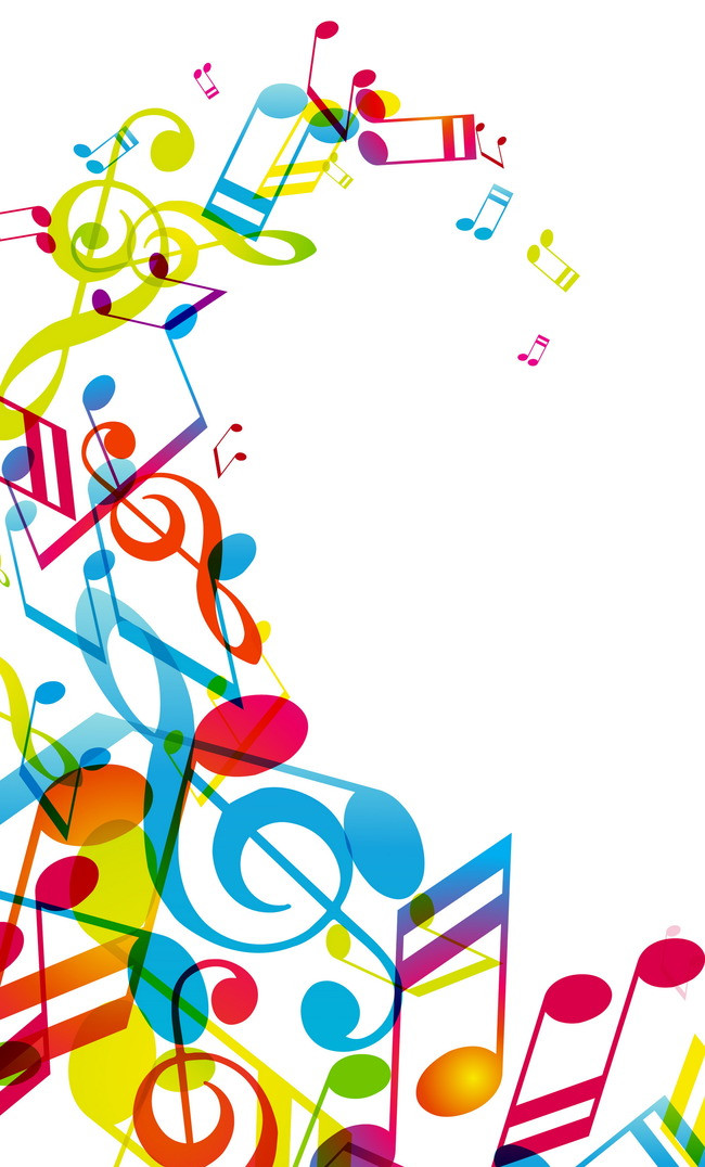 650x1076 Colorful Musical Symbol, Colorful, Music, Symbol Background Image