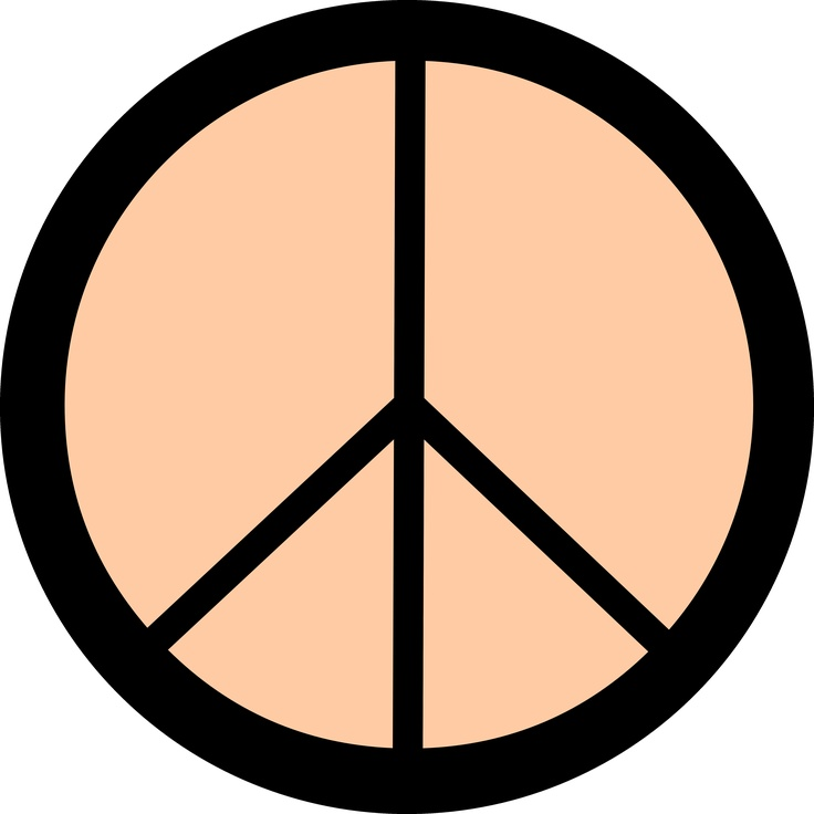 Colorful Peace Sign Clipart