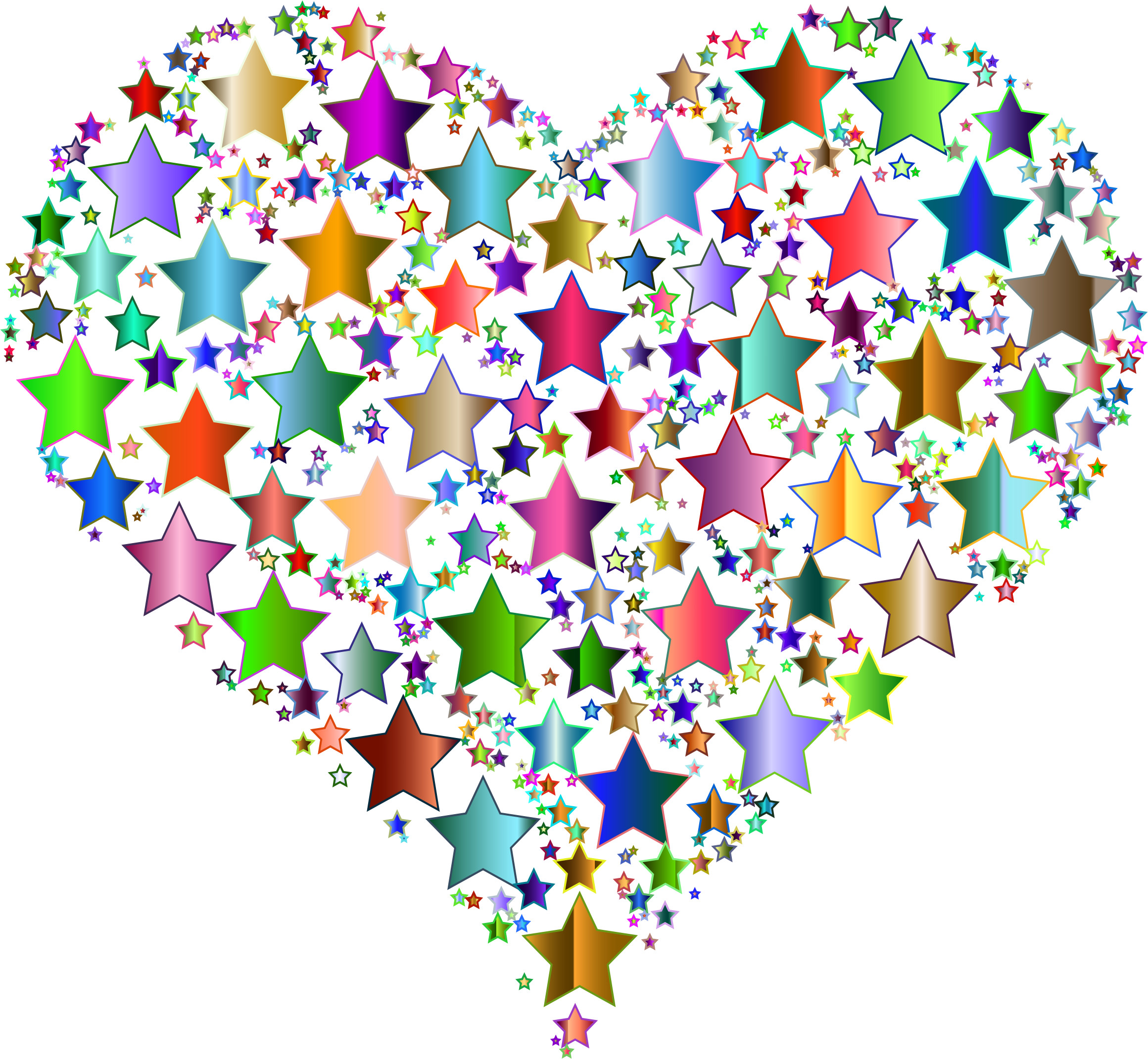 colorful stars and hearts | free download best colorful stars and