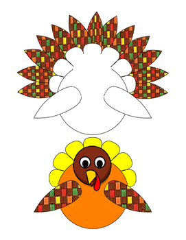 271x350 Crafts Cut Paste Color Colorful Turkey Options Bulletin Board
