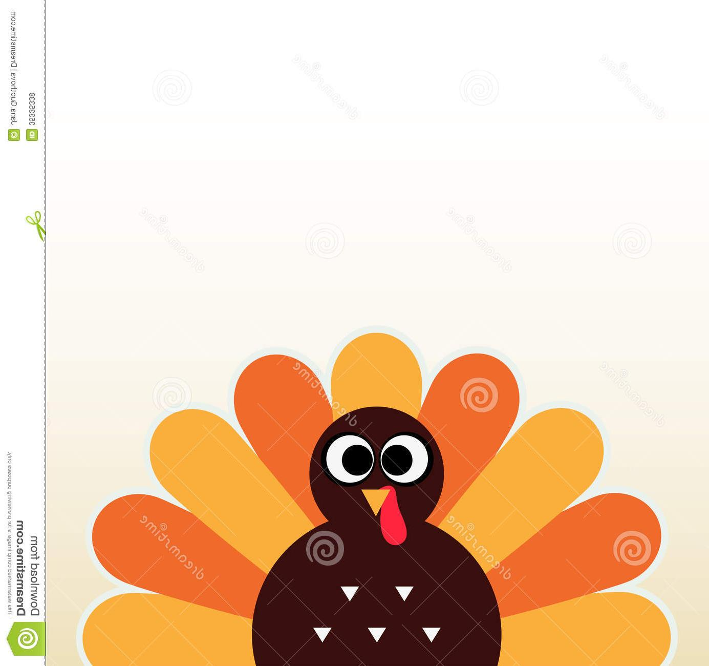 1385x1300 Thanksgiving Colorful Turkey Happy Day Card Space Vector Illustration