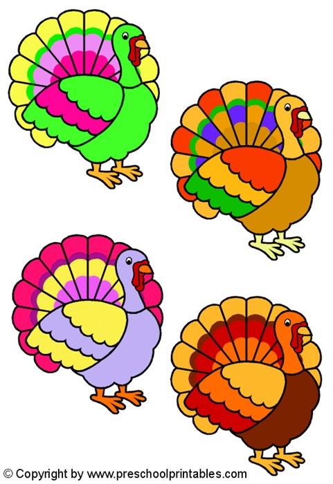 481x700 Turkey Lurkey Color Match File Folder Game