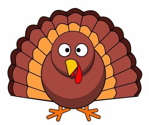 478x400 Turkey Clipart Colored