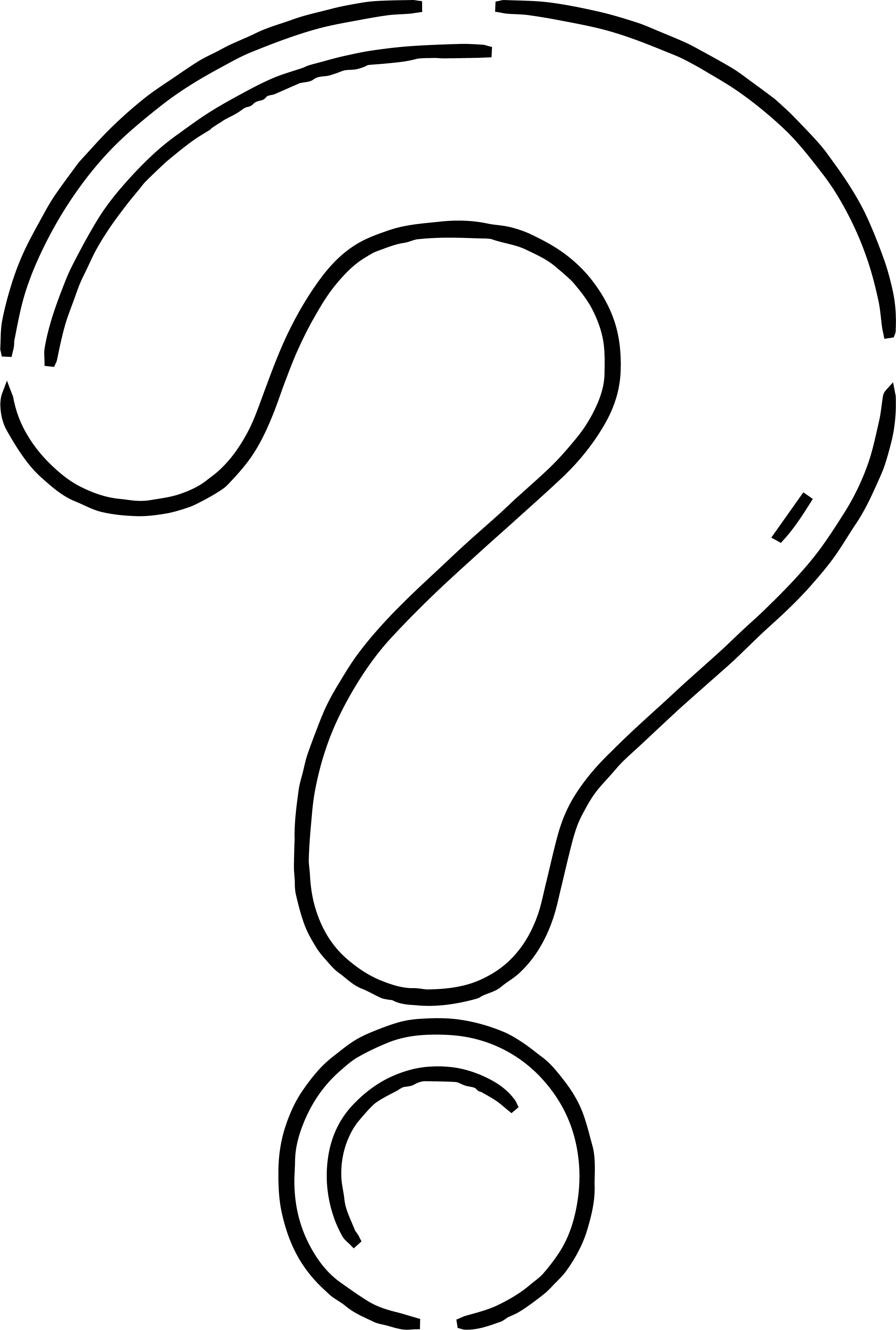 2511x3727 Any Question Mark Coloring Page Wecoloringpage