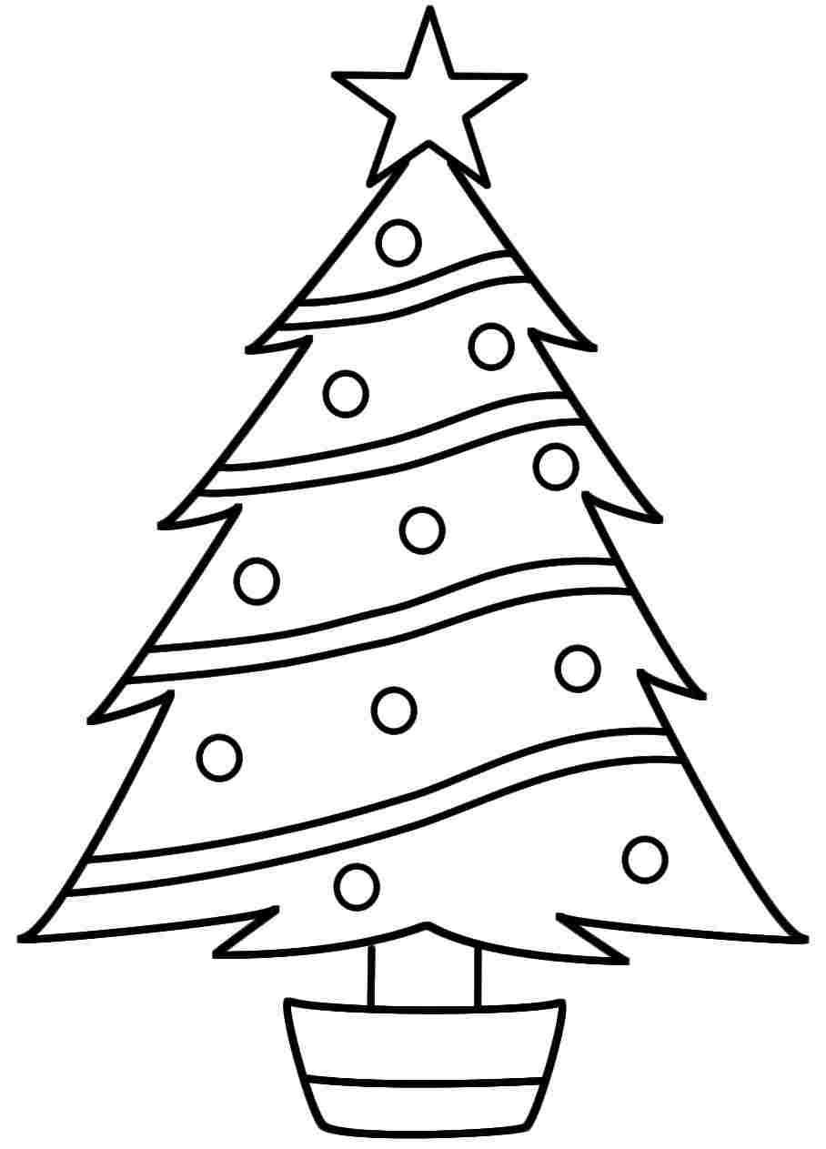 908x1263 Coloring Pages Xmas Tree Coloring Page Fun