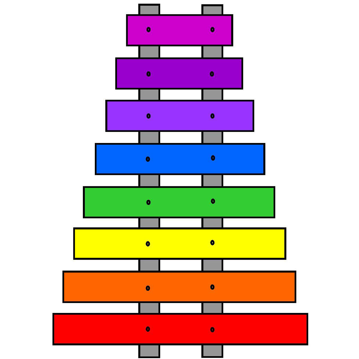1200x1200 Colors Clipart Xylophone