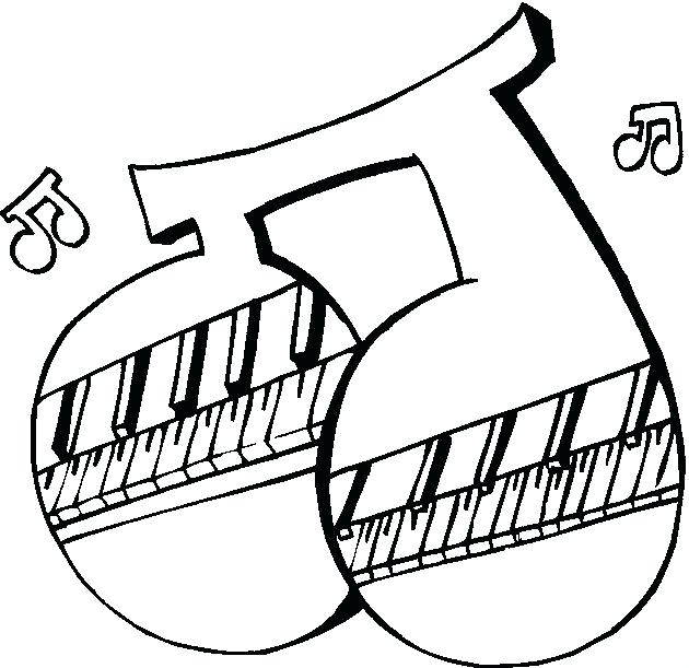 630x611 Music Instrument Coloring Pages Xylophone