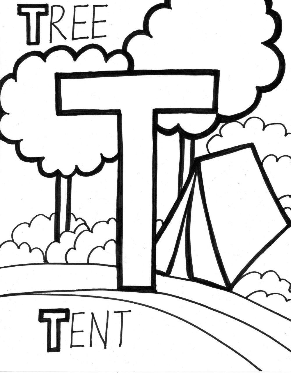 1000x1280 Tent Alphabet Coloring Page Alphabet Coloring Pages