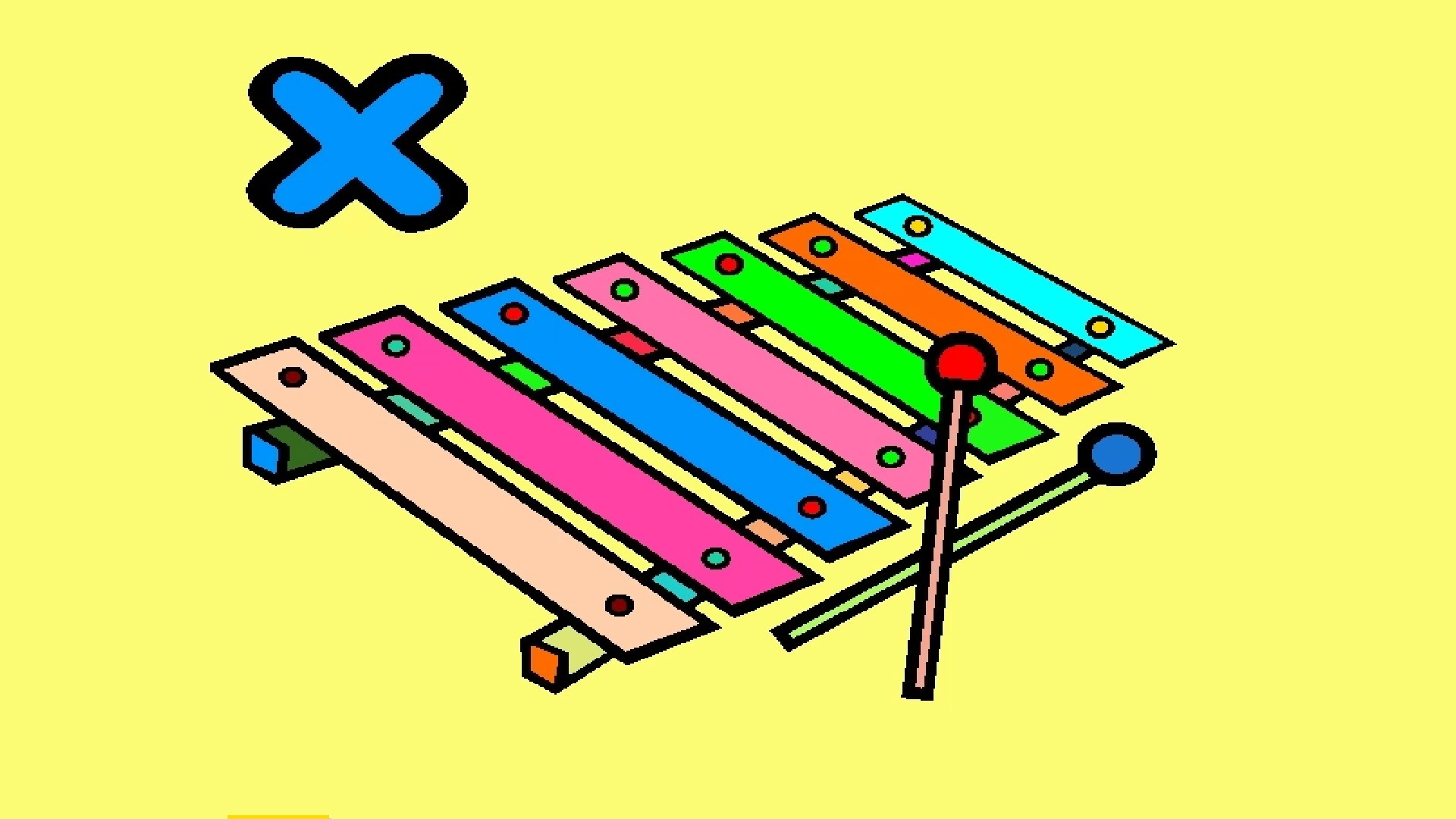 1920x1080 Xylophone Coloring Pictures For Kids